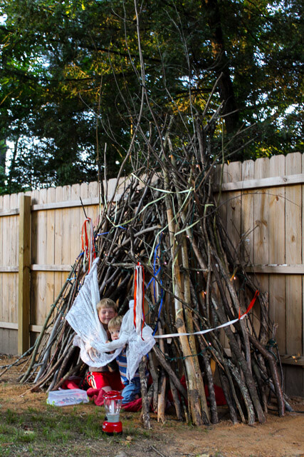 How to Build a Backyard Teepee (for Free!) - Gardens That Matter