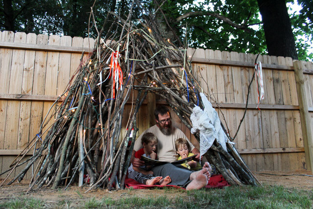 How to Build a Backyard Teepee (for Free!) - Gardens That ...