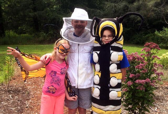 Pollinator fun at an environmental education event! Photo: Kim Bailey