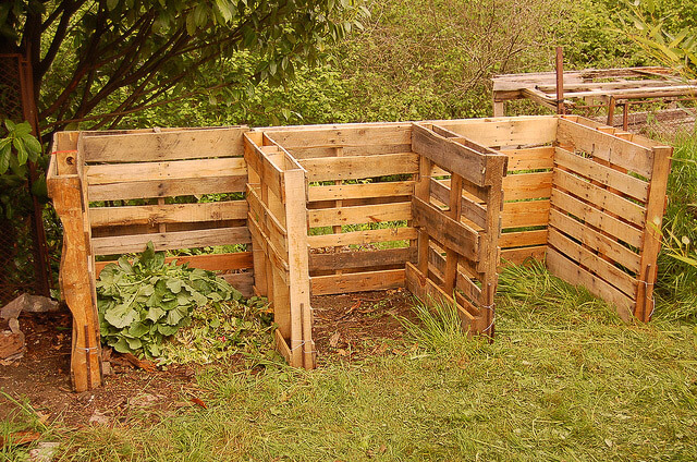 Three Bin Compost System Made From Recycled Wooden Pallets S Pants Flickr