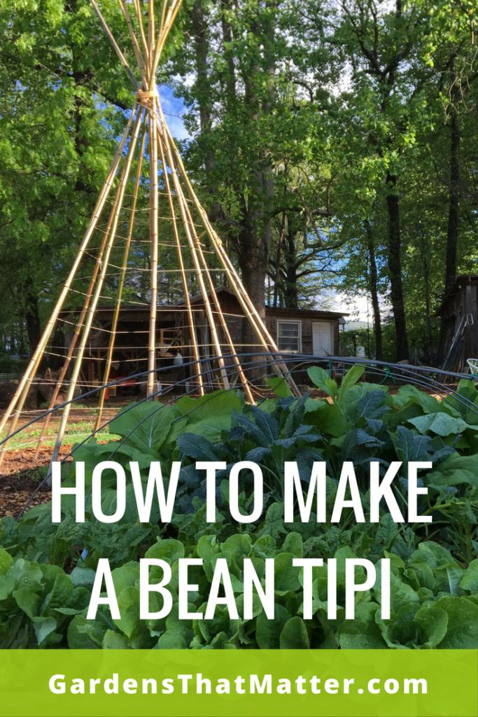 How To Make A Bean Tipi Gardens That Matter